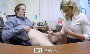 anal  fuck  mom  office  step son  stepmother