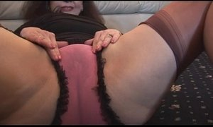 busty  granny  hairy pussy  mature  panties  playing