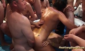 gangbang  mom  oiled milf  swingers