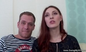 fuck  husband  redhead mature  stranger  swingers  wife
