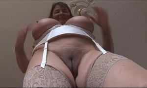 brunette mature  busty  hairy pussy  huge boobs  mature  tits