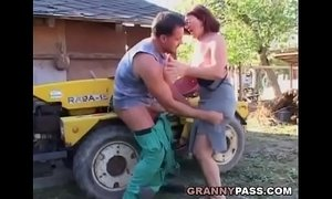 dick  german moms  granny  old granny  outdoor sex  riding on boy